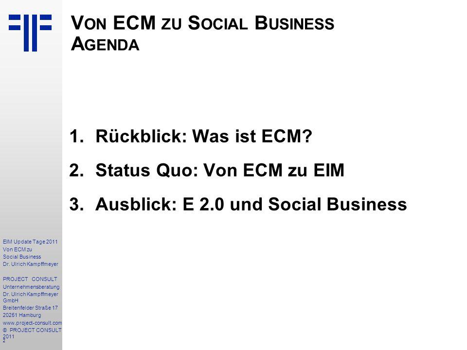 2 EIM Update Tage 2011 Von ECM zu Social Business Dr.
