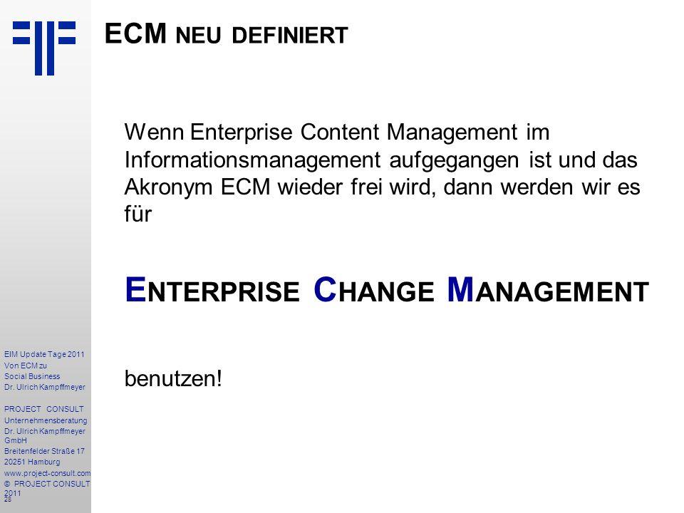 28 EIM Update Tage 2011 Von ECM zu Social Business Dr.