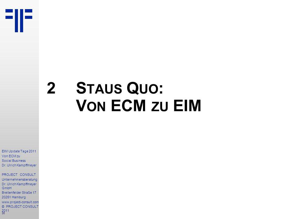 36 EIM Update Tage 2011 Von ECM zu Social Business Dr.