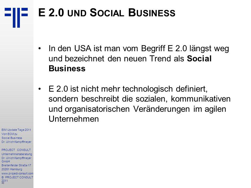 43 EIM Update Tage 2011 Von ECM zu Social Business Dr.