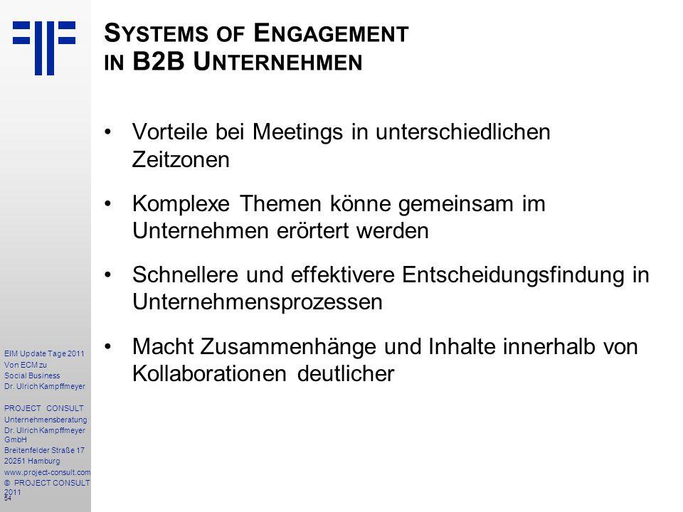 54 EIM Update Tage 2011 Von ECM zu Social Business Dr.