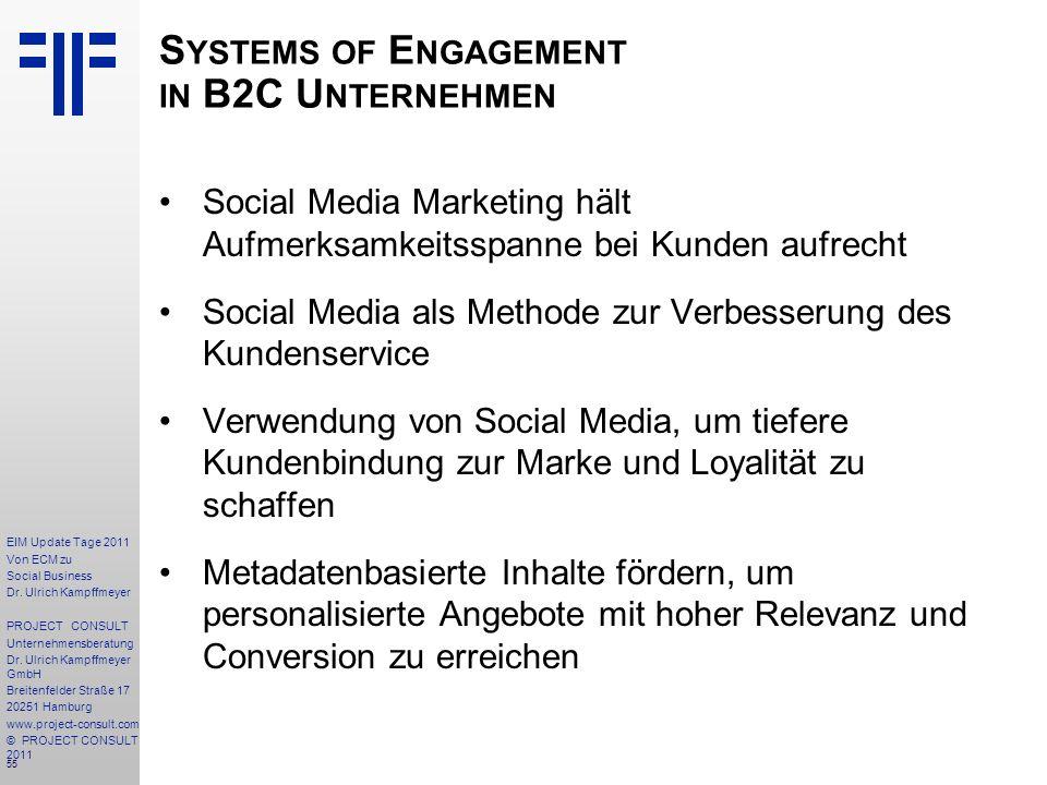 55 EIM Update Tage 2011 Von ECM zu Social Business Dr.