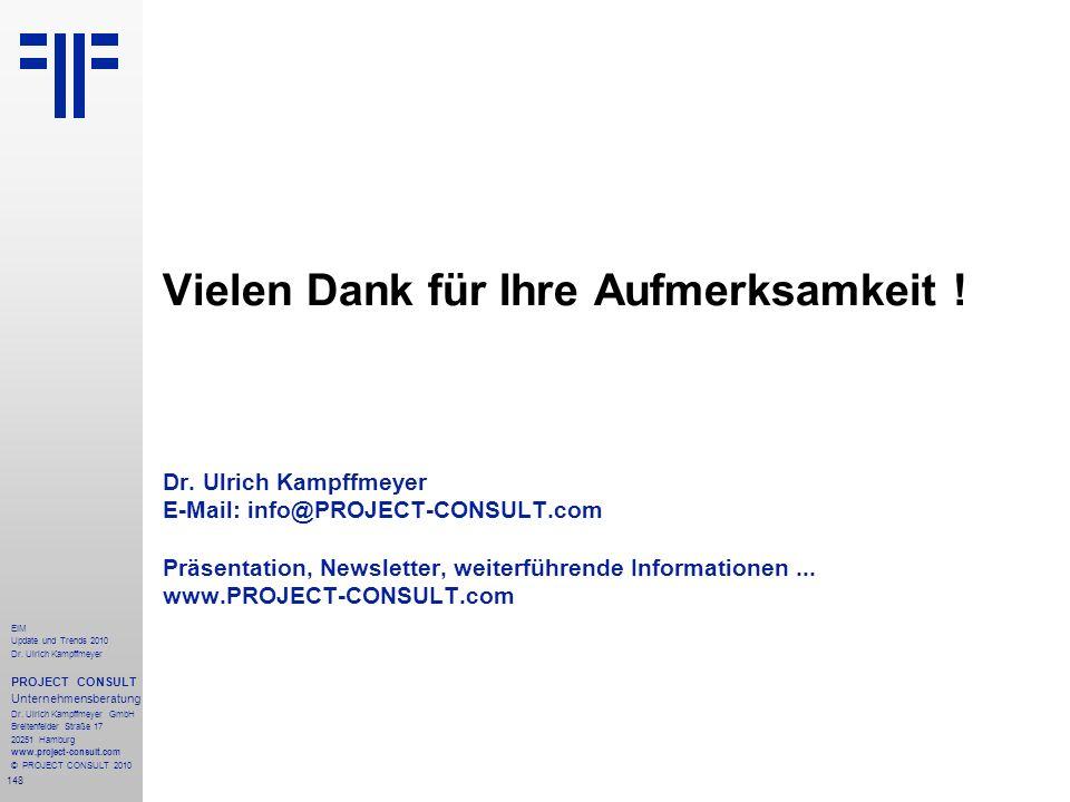 148 EIM Update und Trends 2010 Dr. Ulrich Kampffmeyer PROJECT CONSULT Unternehmensberatung Dr. Ulrich Kampffmeyer GmbH Breitenfelder Straße 17 20251 H