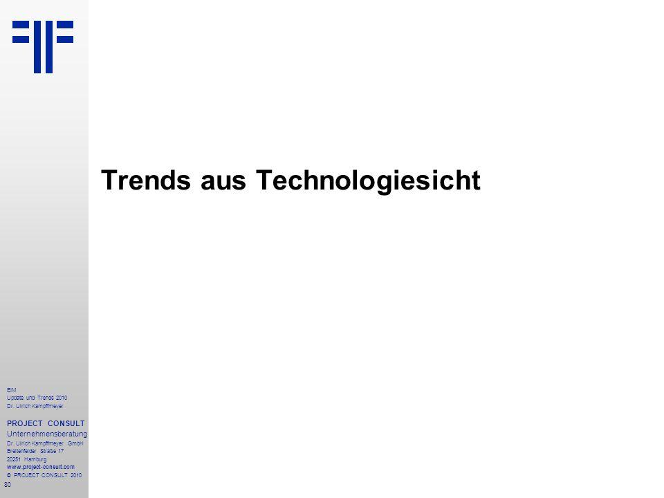 80 EIM Update und Trends 2010 Dr. Ulrich Kampffmeyer PROJECT CONSULT Unternehmensberatung Dr. Ulrich Kampffmeyer GmbH Breitenfelder Straße 17 20251 Ha