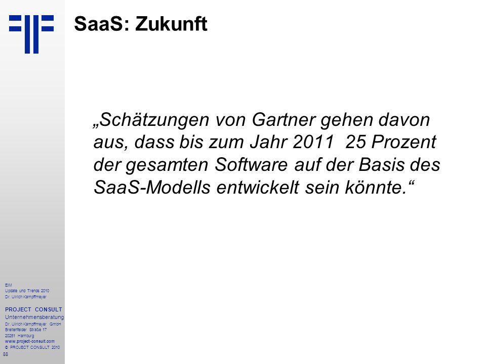 88 EIM Update und Trends 2010 Dr. Ulrich Kampffmeyer PROJECT CONSULT Unternehmensberatung Dr. Ulrich Kampffmeyer GmbH Breitenfelder Straße 17 20251 Ha