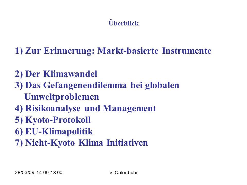 28/03/09, 14:00-18:00V.Calenbuhr 2. Der Klimawandel 2.7 Klimawandel anthropogener Natur.