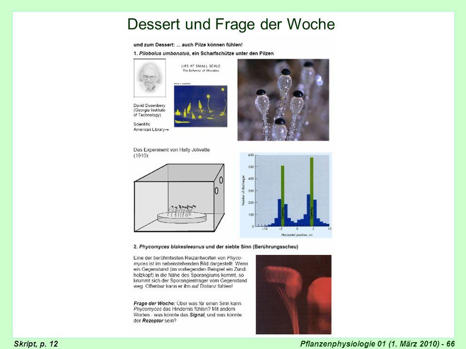 Pflanzenphysiologie 01 (1. März 2010) - 66 Dessert und Frage der Woche Skript, p. 12