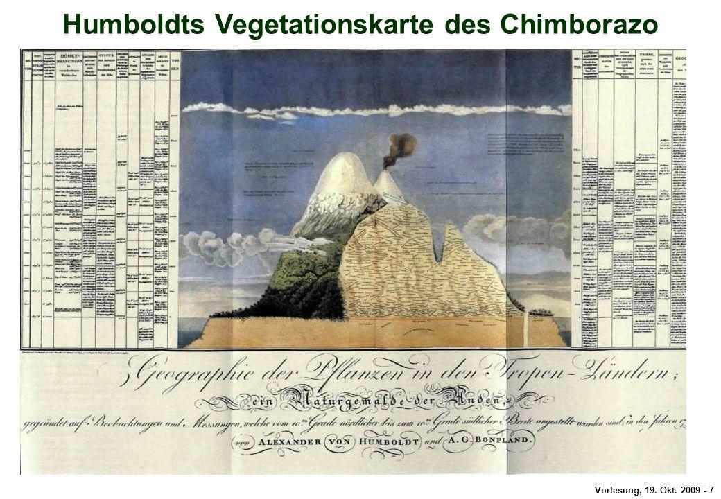 Vorlesung, 19. Okt. 2009 - 7 Alexander von Humboldt Humboldts Vegetationskarte des Chimborazo