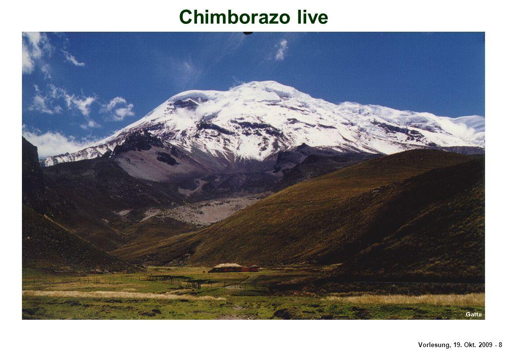 Vorlesung, 19. Okt. 2009 - 8 Chimborazo Chimborazo live