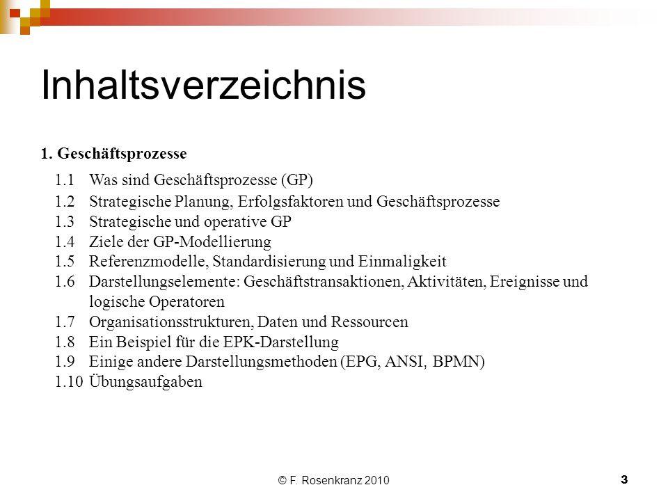 © F.Rosenkranz 20103 Inhaltsverzeichnis 1.