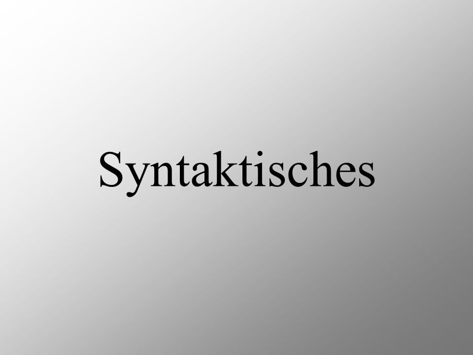 Syntaktisches