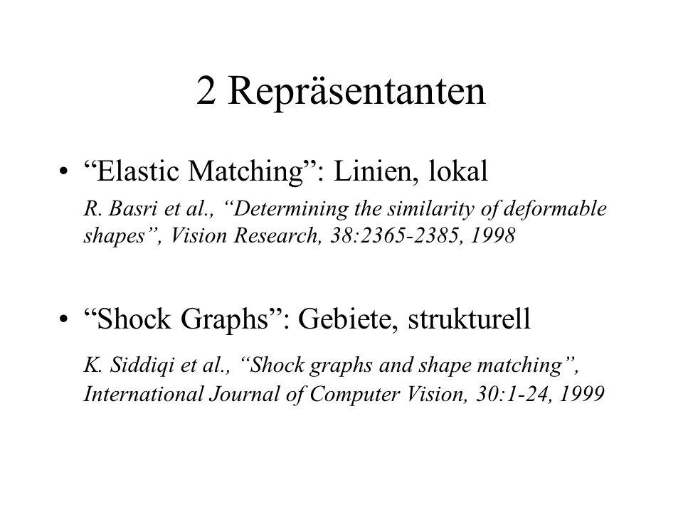 2 Repräsentanten Elastic Matching: Linien, lokal R.