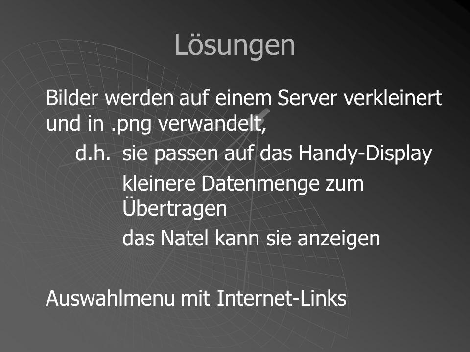 Wetterprognose SMA-Server Internet Natel