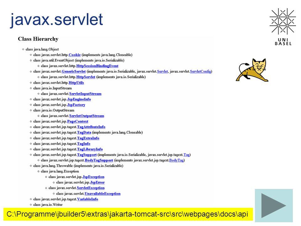 javax.servlet C:\Programme\jbuilder5\extras\jakarta-tomcat-src\src\webpages\docs\api