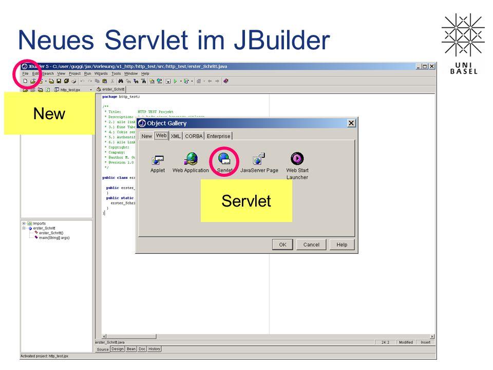 New Neues Servlet im JBuilder Servlet