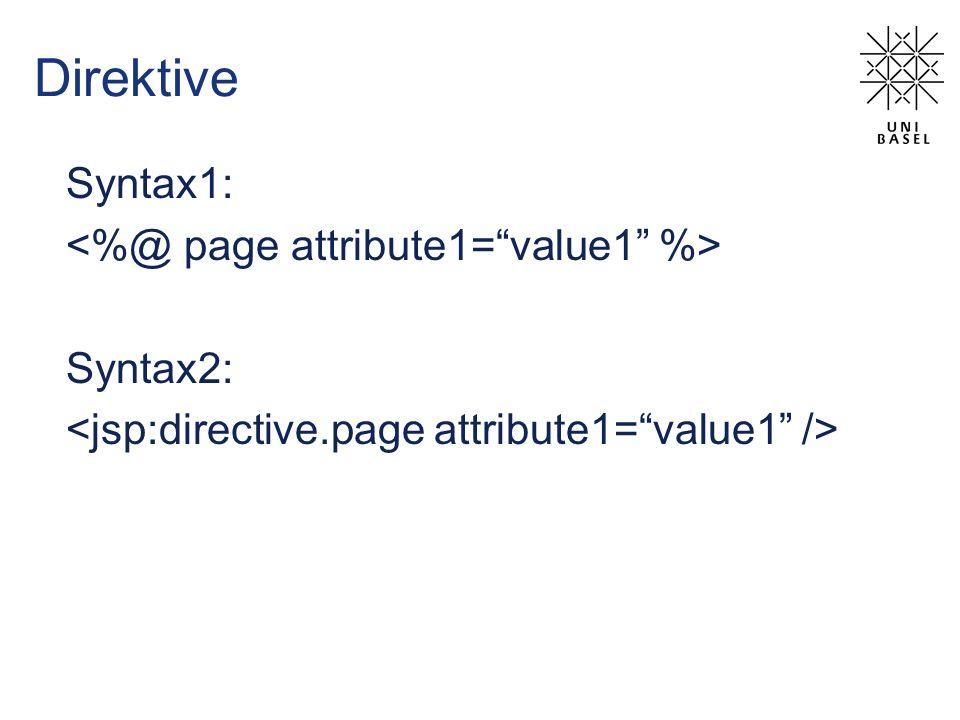 Direktive Syntax1: Syntax2: