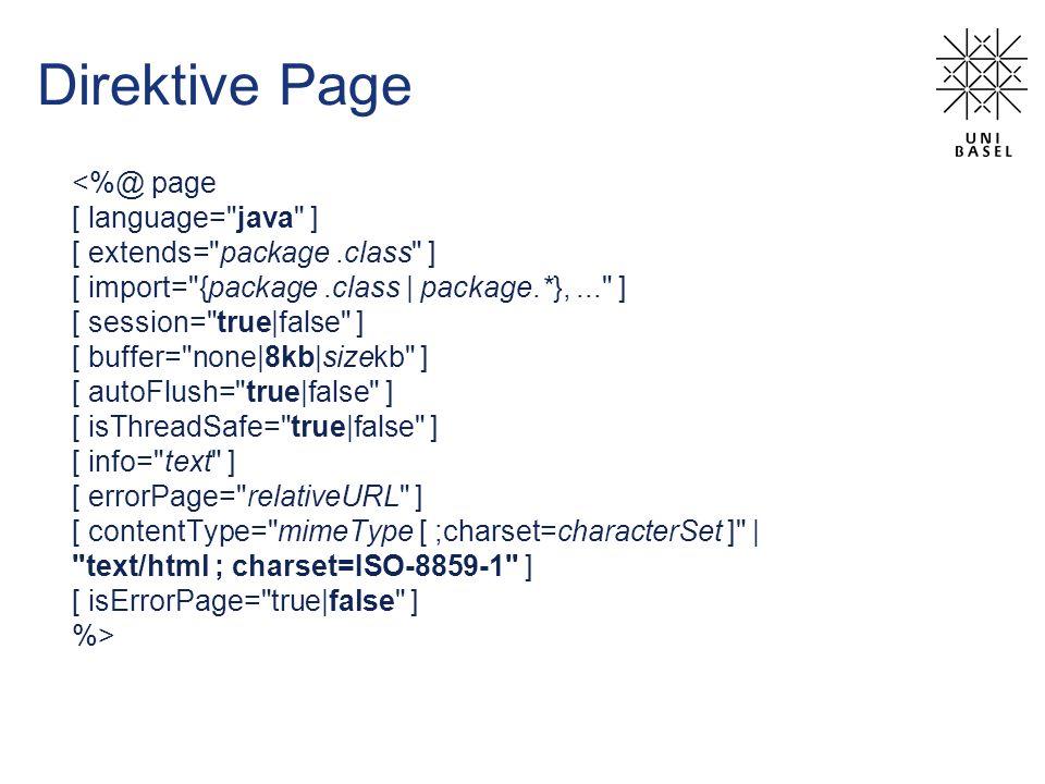 Direktive Page <%@ page [ language=