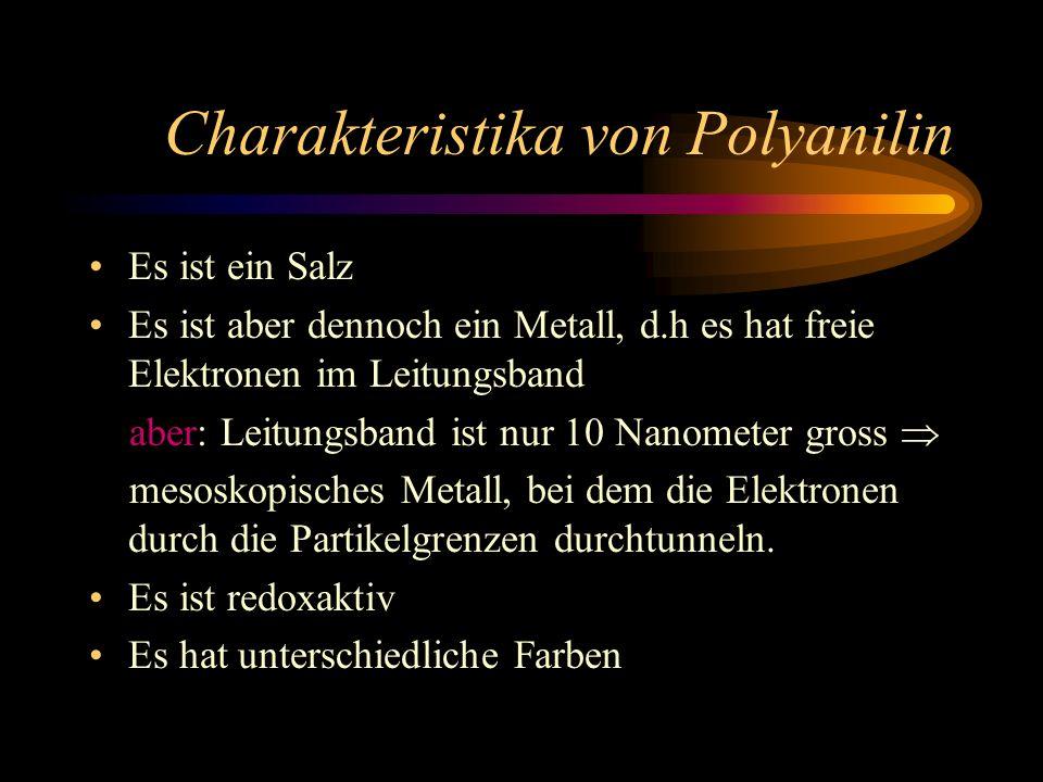Verschiedene Oxidationstufen von Polyanilin Organisches Metall