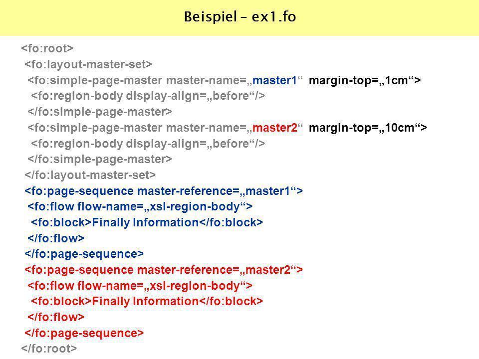 Finally Information Finally Information Beispiel – ex1.fo