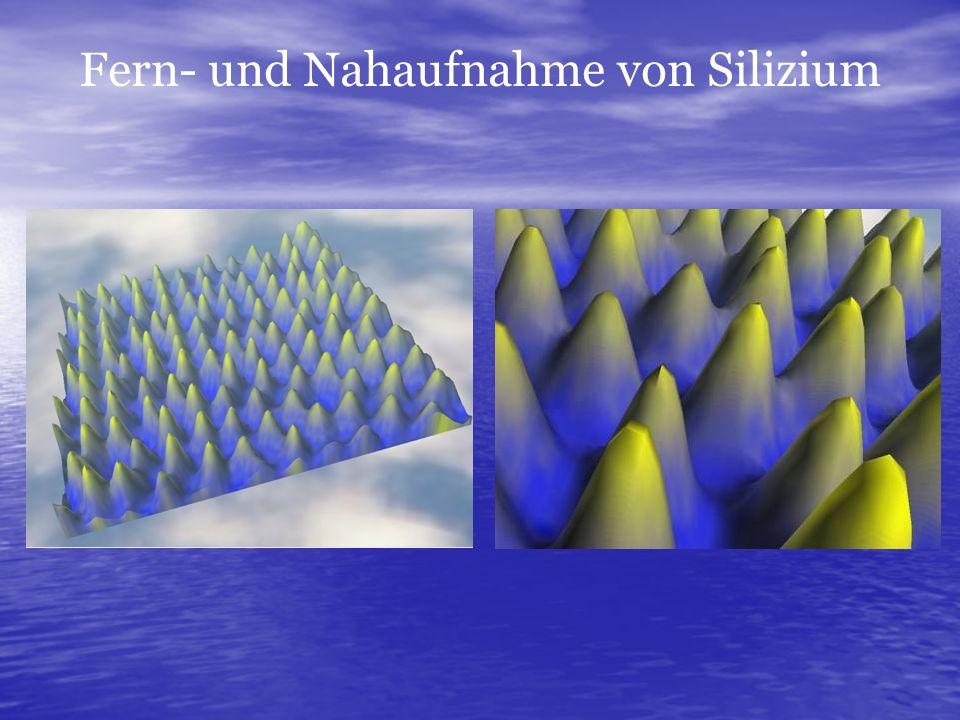 Fern- und Nahaufnahme von Silizium