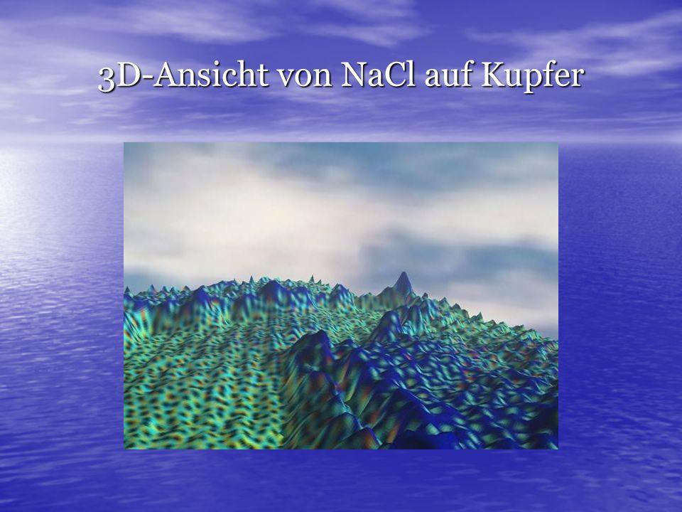 3D-Ansicht von NaCl auf Kupfer