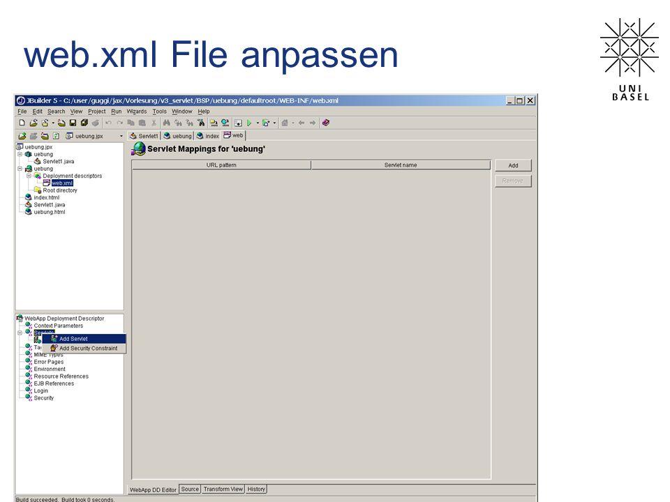web.xml File anpassen