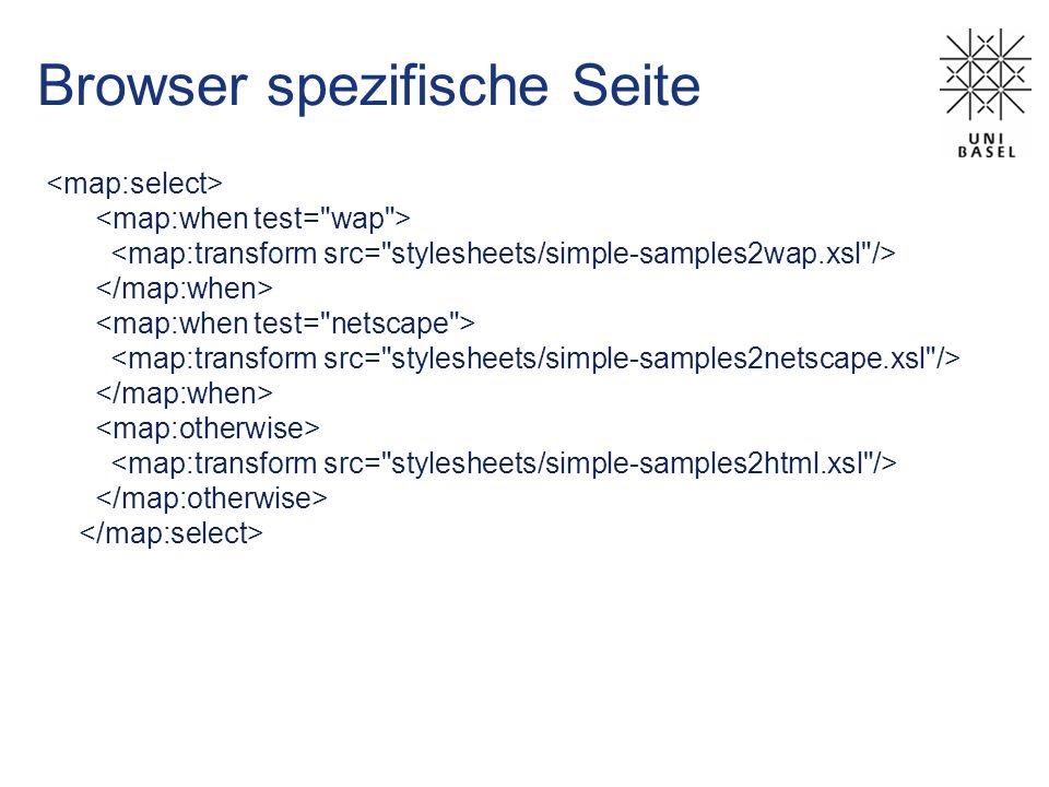 Browser spezifische Seite