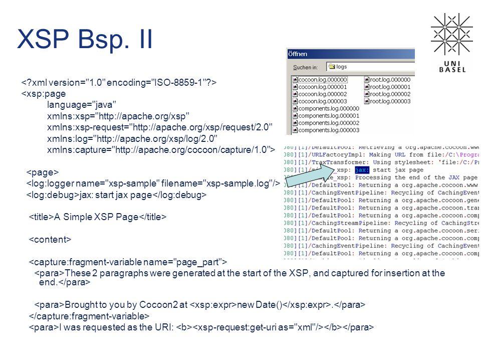 XSP Bsp. II <xsp:page language=