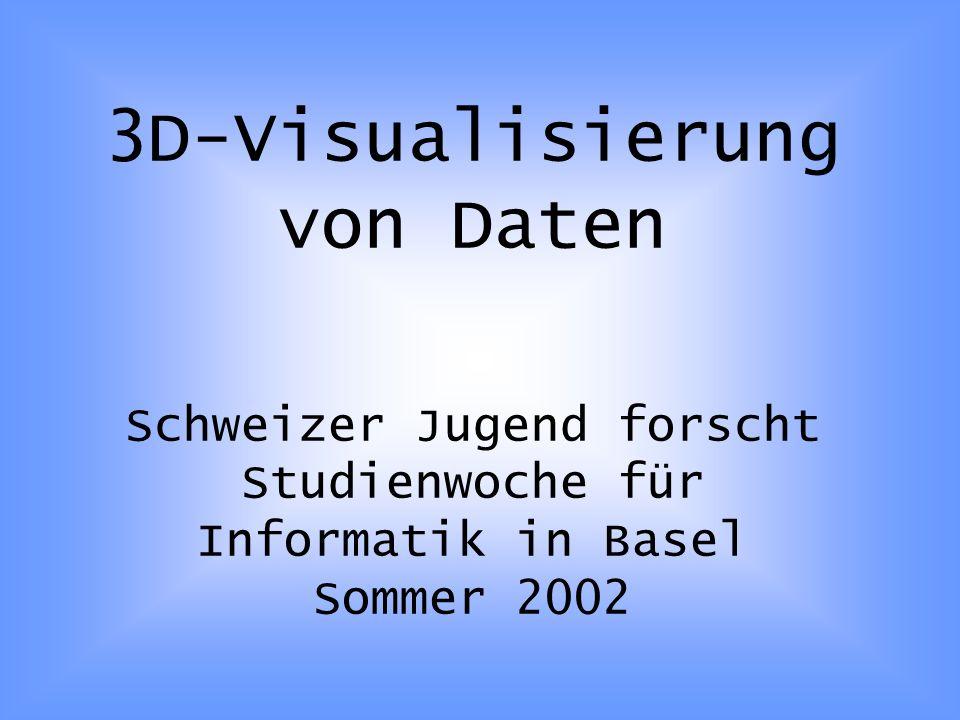 3D-Visualisierung von Daten Schweizer Jugend forscht Studienwoche für Informatik in Basel Sommer 2002