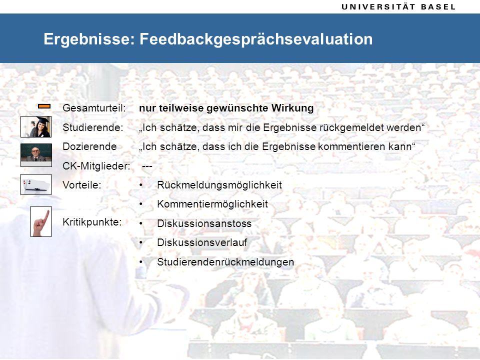 4 Ablauf Ergebnisse: Feedbackgesprächsevaluation Feedbackgespräch nur teilweise gewünschte Wirkung Rückmeldung der Ergebnisse, fühlen sich ernst genom