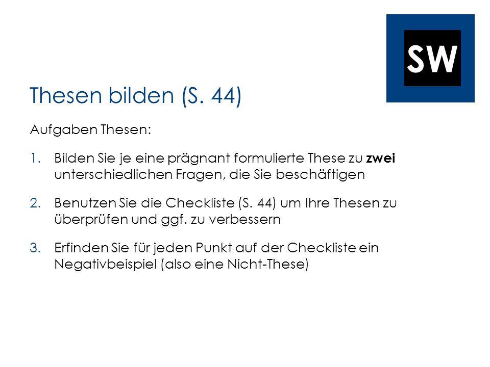 SW Thesen bilden (S.