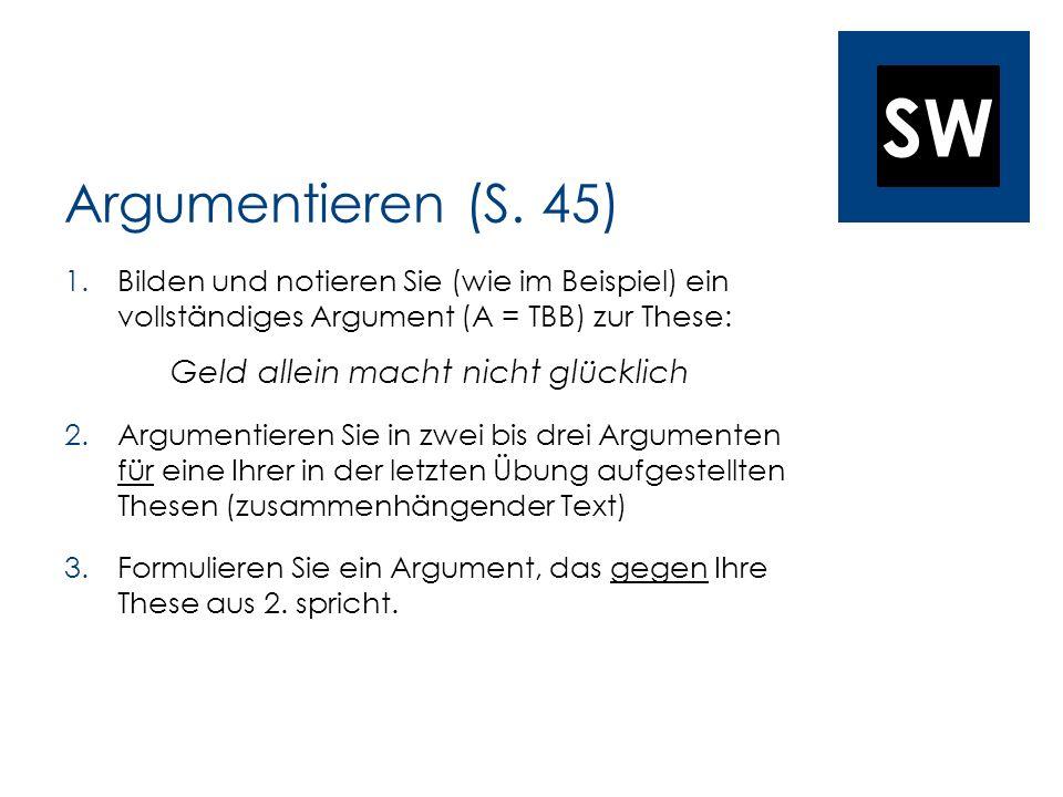 SW Argumentieren (S.