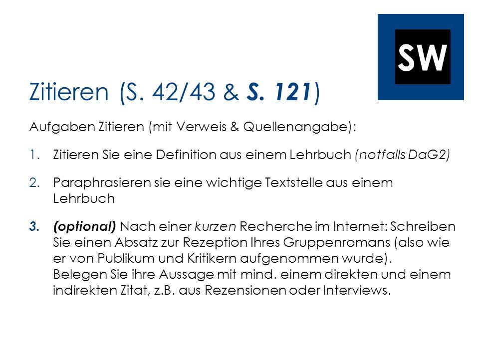 SW Zitieren (S. 42/43 & S.
