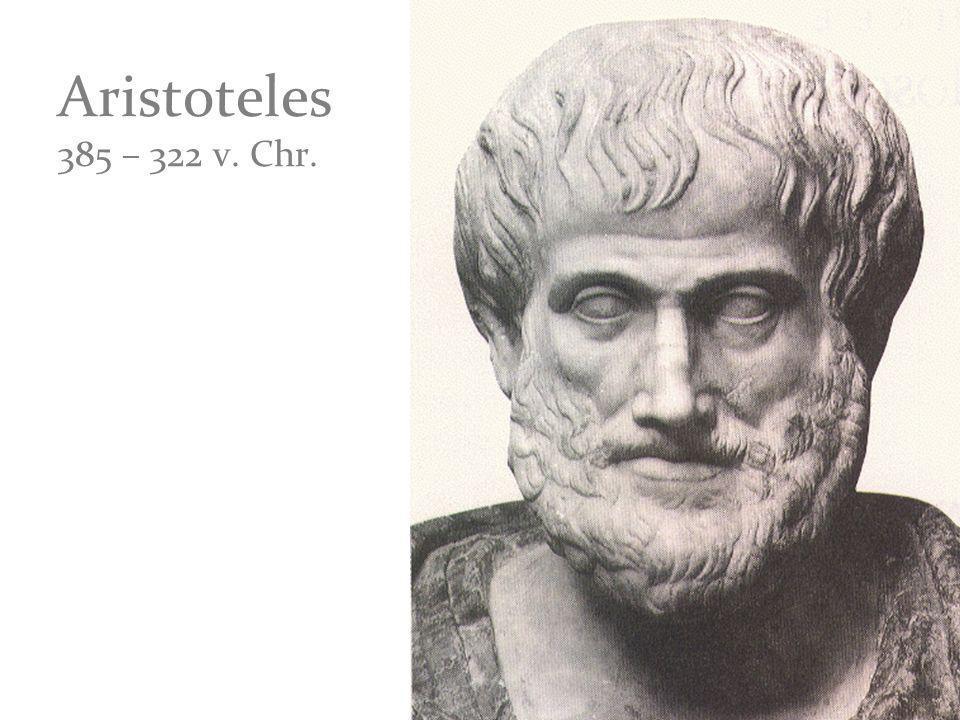 Aristoteles sagt: Die Tragödie ist Nachahmung (mimesis) einer guten und in sich geschlossenen Handlung von bestimmter Grösse, in anziehend geformter Sprache.