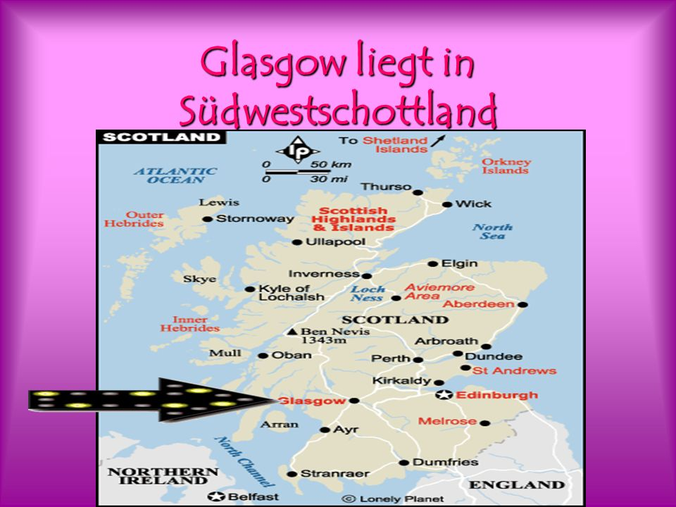 Glasgow liegt in Südwestschottland
