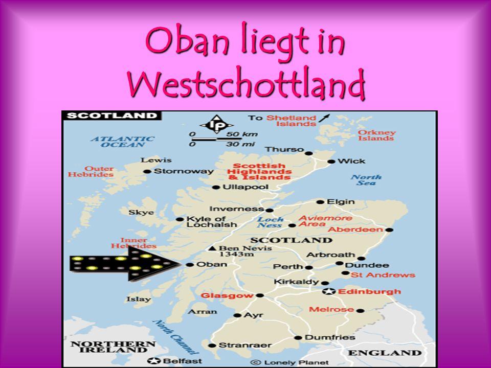 Oban liegt in Westschottland