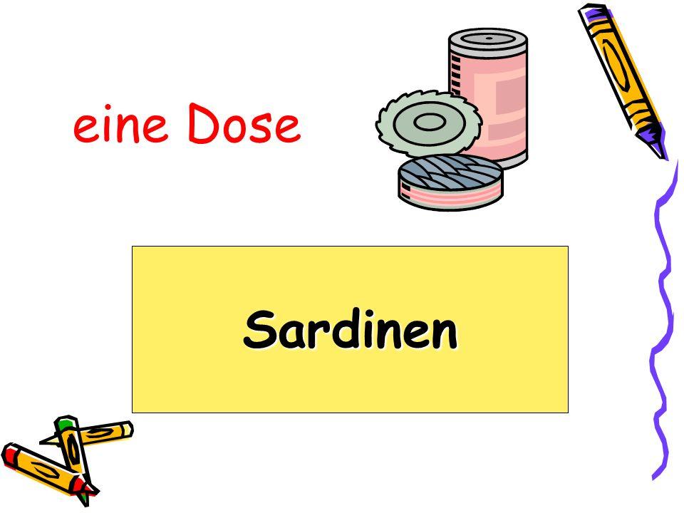 eine Dose Sardinen