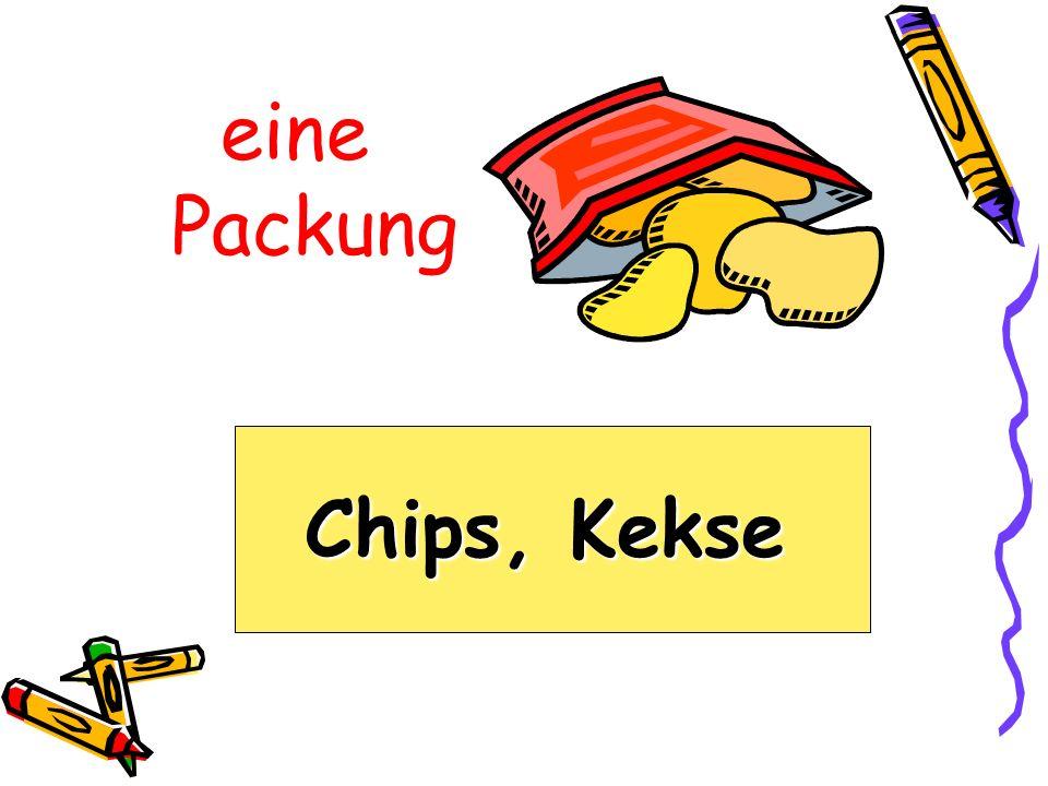 eine Packung Chips, Kekse