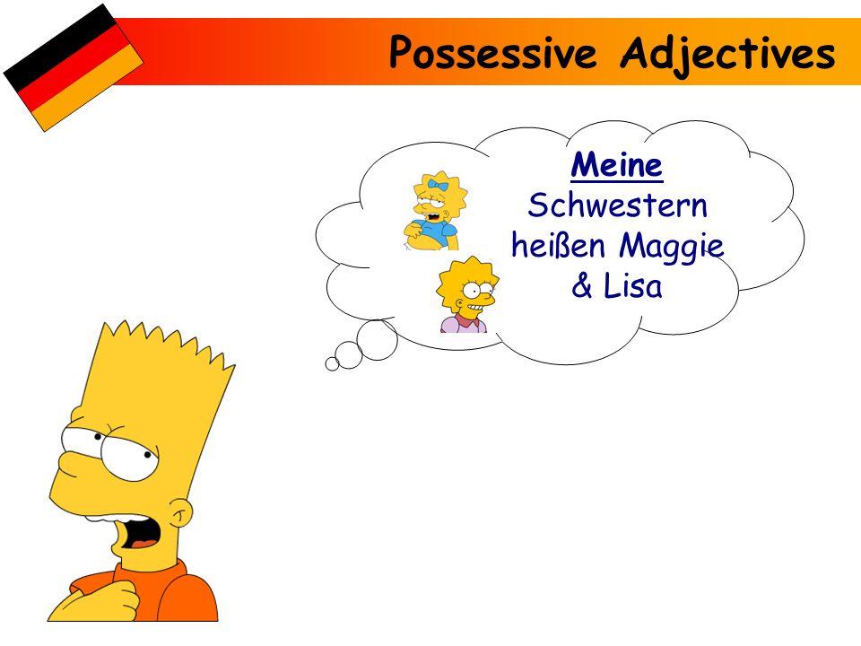Possessive Adjectives Meine Schwester heißt Marge