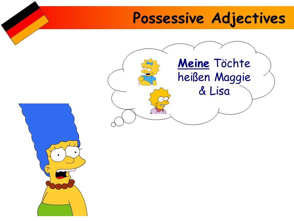 Possessive Adjectives Meine Schwester heißt Lisa