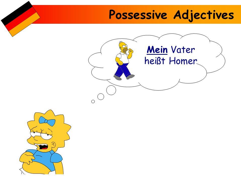 Possessive Adjectives Mein Vater heißt Homer