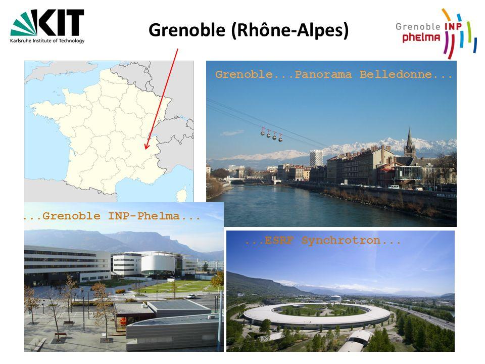 Grenoble (Rhône-Alpes) Grenoble...Panorama Belledonne......Grenoble INP-Phelma......ESRF Synchrotron...