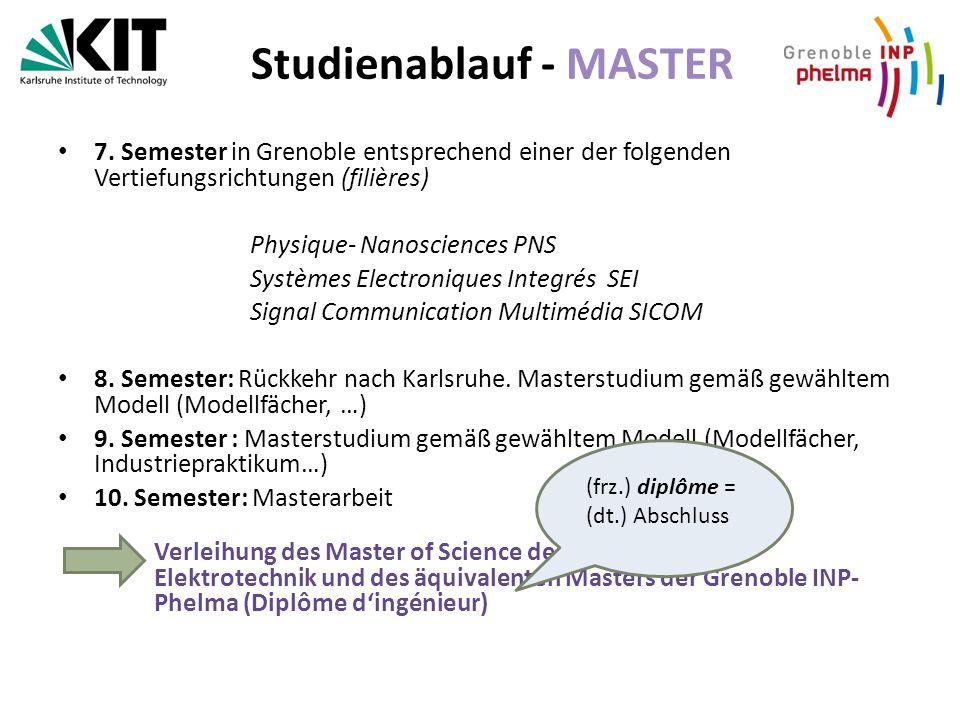 Studienablauf - MASTER 7.