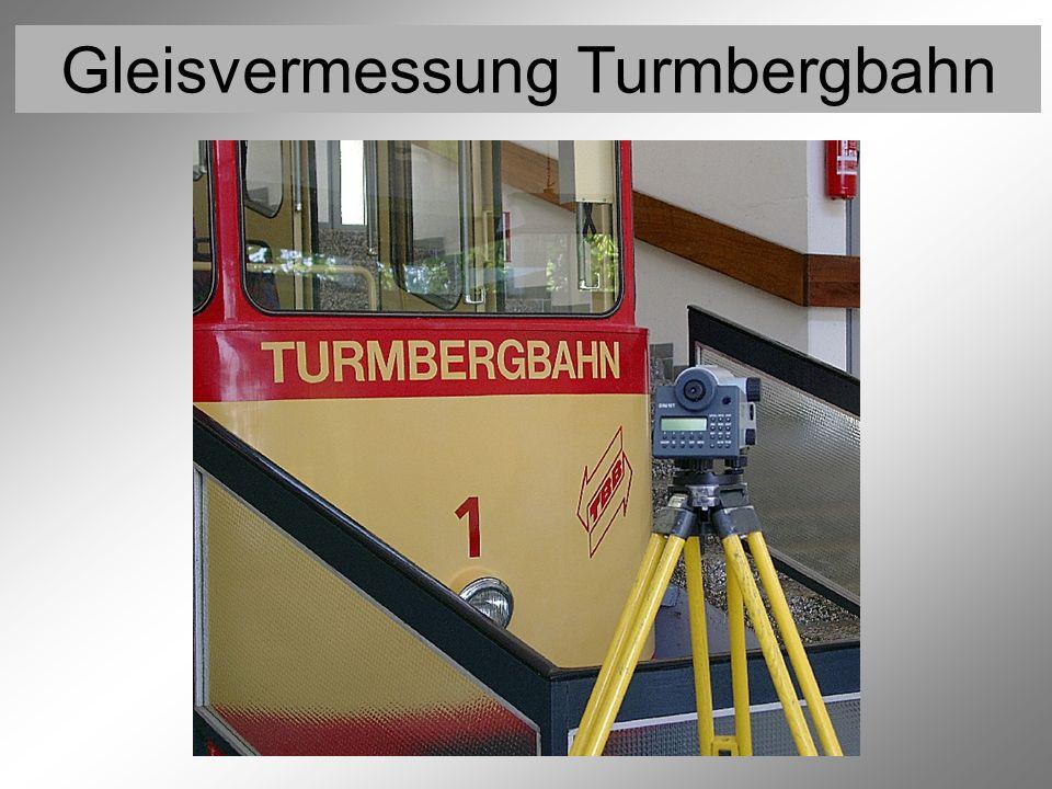 Gleisvermessung Turmbergbahn Vermessung der Festpunkte 3 (Nivellement)