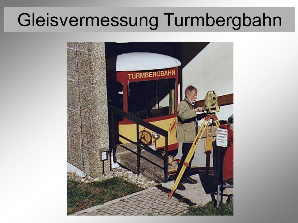 Gleisvermessung Turmbergbahn Vermessung der Festpunkte 7 (Trigonometrische Höhenmessung)