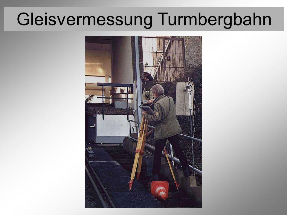 Gleisvermessung Turmbergbahn Vermessung der Festpunkte 8 (Trigonometrische Höhenmessung)