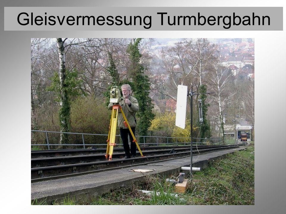 Gleisvermessung Turmbergbahn Vermessung der Festpunkte 8 (Lagebestimmung)
