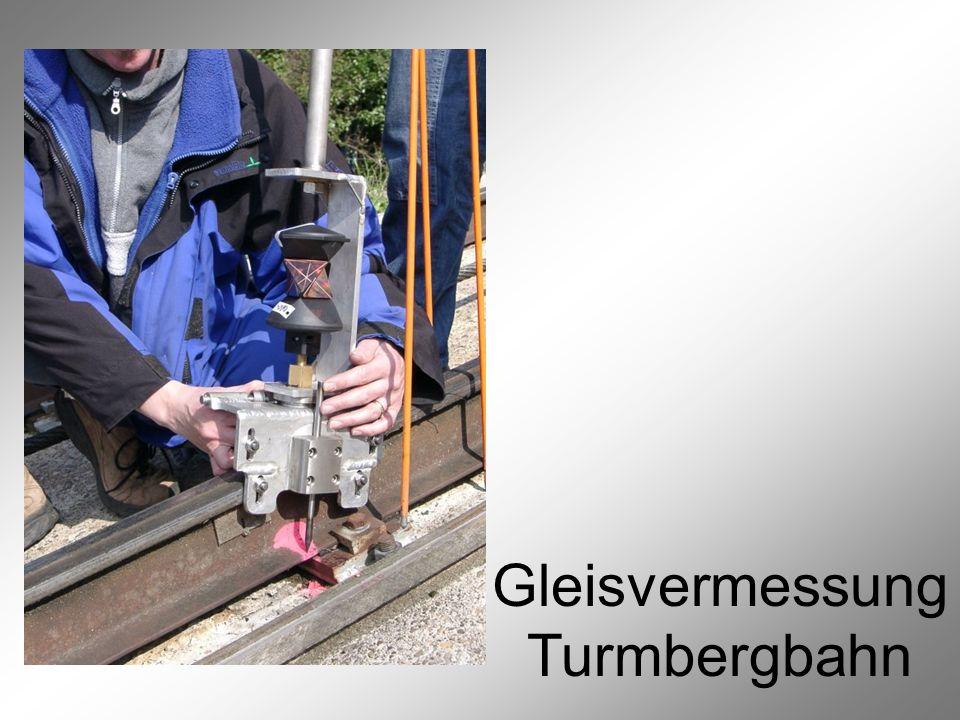 Gleisvermessung Turmbergbahn Vermessung der Gleispunkte 3