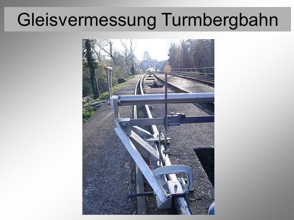 Gleisvermessung Turmbergbahn Vermessung der Rollen 8