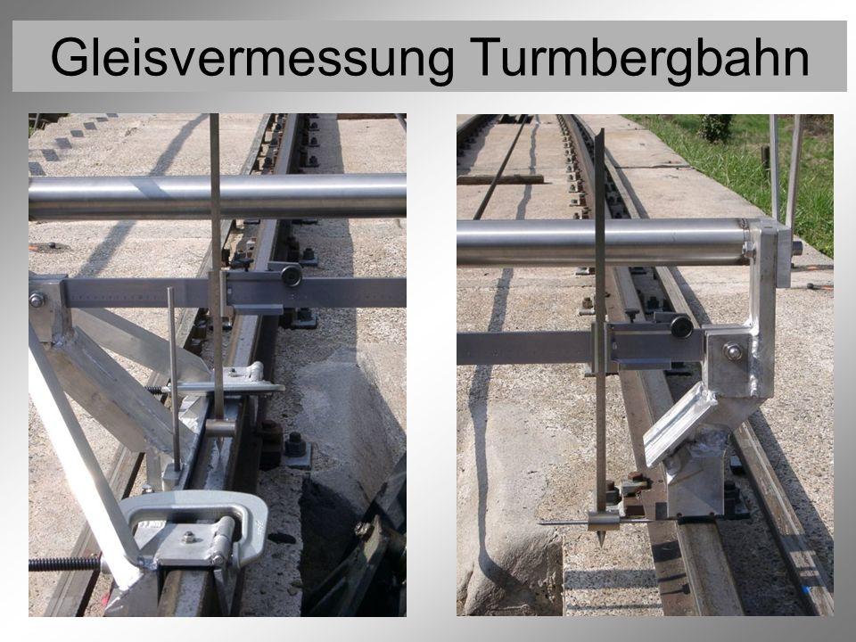 Gleisvermessung Turmbergbahn Vermessung der Rollen 9